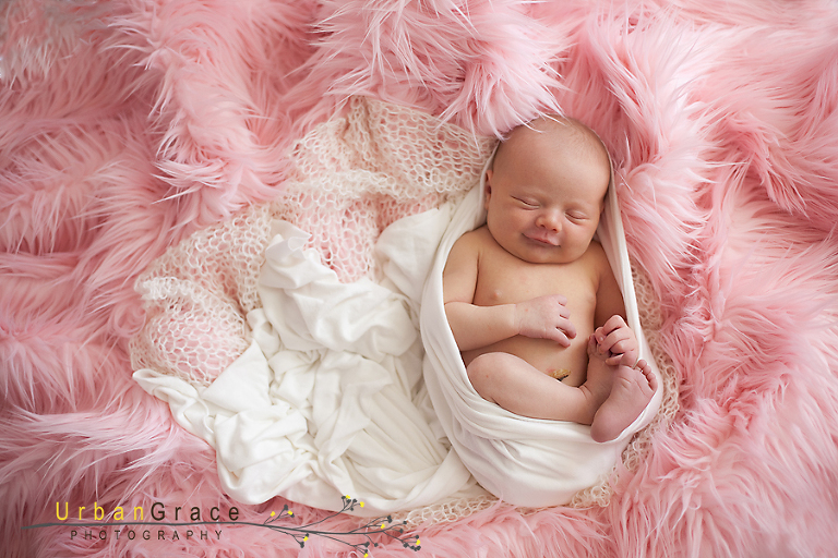 4 day old newborn naomi, cumming lifestyle newborn photography