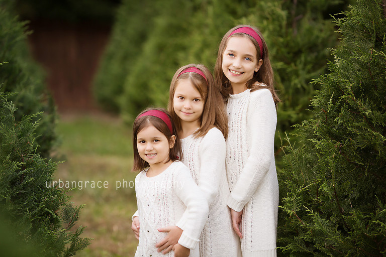christmas tree farm family photographer buford georgia